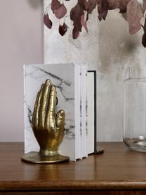 Boekensteun Bookend, 2-delig, Metaalkleurig, Goudkleurig met antieke afwerking, 15 x 18 cm