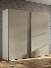 Beige kledingkast Oliver met schuifdeuren, Frame: panelen op houtbasis, gel, Beige, 252 x 225 cm