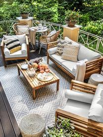 Garten-Lounge-Set Bo, 4-tlg., Gestell: Massives Akazienholz, geö, Bezüge: GrauGestelle: Akazienholz, Sondergrößen