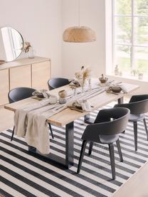 Jedálenský stôl s masívnou doskou Oliver, Stolová doska: divoký dub Nohy: matná čierna