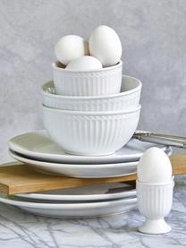 Assiettes plates en porcelaine Alice, 2pièces, Vert menthe, blanc