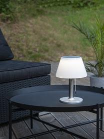 Solární venkovní stolní lampa Solia, Bílá, ocel