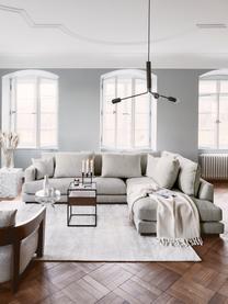 Grand canapé d'angle gris-beige Tribeca, Tissu gris-beige