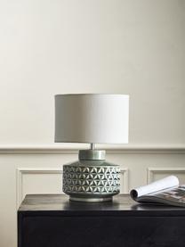 Malá stolní lampa s keramickou podstavou Monica, Béžová, šedá