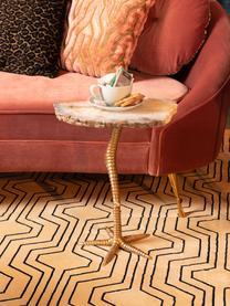 Table d'appoint en agate Beauty And The Bird, Couleur dorée