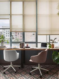 Bureaustoel Einara, in hoogte verstelbaar, Bekleding: polyester, Frame: gecoat staal, Wieltjes: polypropyleen, Roze, wit, 64 x 64 cm