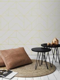 Carta da parati oro Geometric Art, Tessuto non tessuto, Bianco, dorato, Larg. 52 x Alt. 1005 cm