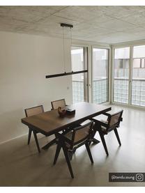 Armstoel Sissi met Weens vlechtwerk, Frame: massief gelakt eikenhout, Zitvlak: rotan, Rotan, zwart, B 52  x D 58 cm