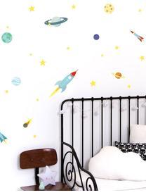 Set de pegatinas de pared Space, 29pzas., Plástico, Multicolor, An 35 x Al 50 cm