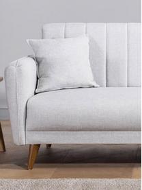 Sofa z funkcją spania (3-osobowa) Aqua, Tapicerka: len, Stelaż: drewno rogowe, metal, Nogi: drewno naturalne, Beżowy, S 202 x G 85 cm