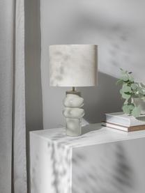 Lampa stołowa z ceramiki Christine, Beżowy, szary, Ø 28 x W 53 cm