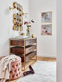 Kinkiet ze szkła opalowego Liv, Stelaż: metal, szczotkowany, Biały, mosiądz, S 15 x W 22 cm