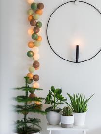 LED-Lichterkette Colorain, 378 cm, 20 Lampions, Beige, Brauntöne, Grüntöne, L 378 cm