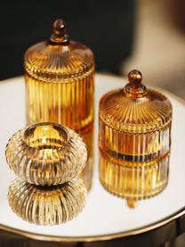 Aufbewahrungsdose Ionic, Glas, Braun, Ø 11 x H 12 cm
