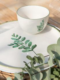 Ciotola Eukalyptus, 6 pz., Porcellana, Bianco, verde, Ø 12 cm