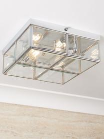 Mała lampa sufitowa Ben, Chrom, transparentny, S 26 x W 10 cm