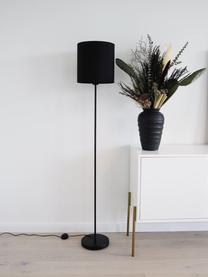 Stehlampe Harry in Schwarz, Lampenschirm: Textil, Lampenfuß: Metall, pulverbeschichtet, Schwarz, Ø 28 x H 158 cm