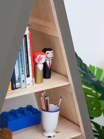 Libreria Helio, Legno di pino, rivestito, Grigio, legno di pino, Larg. 96 x Alt. 172 cm