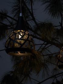 Solar Hängelampe Magic, Lampenschirm: Metall, Baldachin: Kunststoff, Schwarz, Ø 15 x H 44 cm