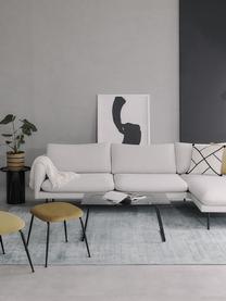 Hoekbank Moby, Bekleding: polyester, Frame: massief grenenhout, Poten: gepoedercoat metaal, Beige, B 280 x D 160 cm