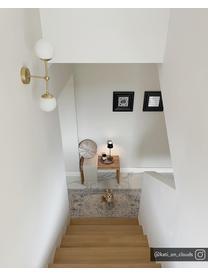 Wandleuchte Beth aus Opalglas, Gestell: Metall, vermessingt, Weiß, Messing, Ø 12 x H 45 cm