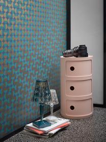 Design Container Componibili 3 Fächer, 100% Biopolymer aus nachwachsenden Rohstoffen, Rosa, matt, Ø 32 x H 59 cm