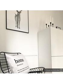 Federa arredo con scritta  Home, 100% poliestere, Nero, bianco, Larg. 45 x Lung. 45 cm