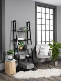 Housse de coussin 45x45 avec lettrage noir/blanc Home, Noir, blanc