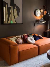 Modulaire chaise longue Lennon in terracotta, Bekleding: polyester De hoogwaardige, Frame: massief grenenhout, multi, Poten: kunststof De poten bevind, Geweven stof terracottakleurig, B 269 x D 119 cm