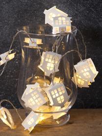 LED-Lichterkette Paperwork, L 225 cm, Lampions: Papier, Weiß, L 225 cm