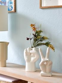 Oggetto decorativo Hand, Terracotta, Bianco, Larg. 10 x Alt. 22 cm