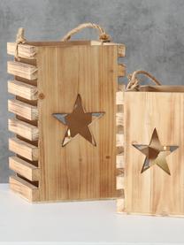 Komplet latarenek Etoile, 2 elem., Drewno jodłowe, Drewno jodłowe, Komplet z różnymi rozmiarami