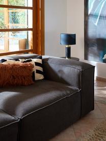 Modulares Sofa Lennon (3-Sitzer) in Anthrazit, Bezug: Polyester Der hochwertige, Gestell: Massives Kiefernholz, Spe, Füße: Kunststoff Die Füße befin, Webstoff Anthrazit, B 238 x T 119 cm