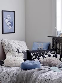 Kissen Hero, mit Inlett, Bezug: 70% Baumwolle, 30% Polyes, Blau, 36 x 36 cm
