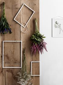 Bilderrahmen Frame, Rahmen: Aluminium, pulverbeschich, Rahmen: Weiß Aufhängung: Schwarz Front und Rückseite: Transparent, 17 x 23 cm