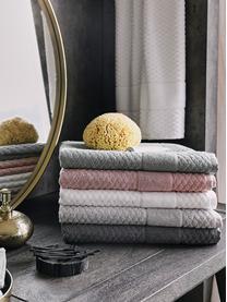Tappeto bagno grigio Katharina, 100% cotone, qualità pesante, 900g/m², Grigio scuro, Larg. 50 x Lung. 70 cm