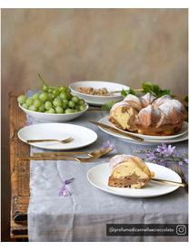 Assiette à dessert porcelaine Delight Modern, 2pièces, Blanc