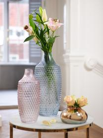 Große Glasvase Poesia, Glas, Rosa, Ø 17 x H 40 cm