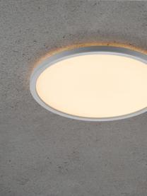 Dimmbare LED-Deckenleuchte Oja, Lampenschirm: Kunststoff, Diffusorscheibe: Kunststoff, Weiß, Ø 29 x H 2 cm