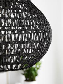 Hanglamp Cable Drop van stof, Metaal, textiel, Zwart, Ø 45 x H 51 cm