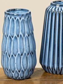 Set 3 vasi in porcellana Aquarel, Porcellana, Tonalità blu con gradiente, Set in varie misure