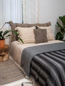 Teppich Fiesta aus Baumwolle/Jute, 55% Chindi Baumwolle, 45% Jute, Schwarz, Beige, B 60 x L 90 cm (Größe XXS)