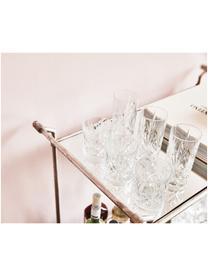 Bicchiere long drink in cristallo Melodia 6 pz, Vetro di cristallo, Trasparente, Ø 7 x Alt.15 cm