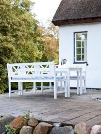 Garten-Esstisch Rosenborg aus Holz, Mahagoniholz, lackiert, Weiss, 165 x 75 cm
