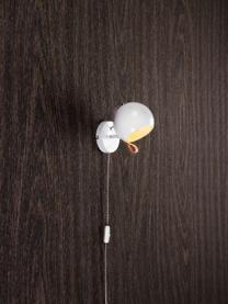 Applique avec prise secteur Ball, Intérieur et extérieur luminaire: blanc Câble: noir, blanc Attache: brun
