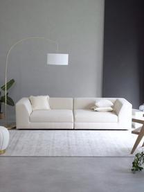 Modulares Sofa Grant (3-Sitzer) in Beige, Bezug: Baumwolle 20.000 Scheuert, Gestell: Fichtenholz, Füße: Massives Buchenholz, lack, Webstoff Beige, B 266 x T 106 cm