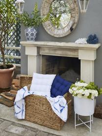 Sitzkissen Ava in Weiß, Bezug: 100% Baumwolle, Weiß, 40 x 40 cm