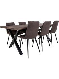Krzesło tapicerowane Middleton, Tapicerka: mikrofibra Dzięki tkanini, Nogi: metal lakierowany, Szary, S 55 x G 44 cm