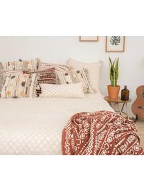 Couvre-lit à motif en relief Royal, Blanc crème