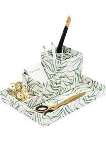 Büro-Organizer Leaf, Fester, laminierter Karton, Weiß, Grün, Sondergrößen
